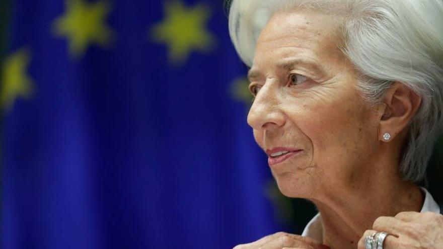 La presidenta del Banco Central Europeo en Bruselas.