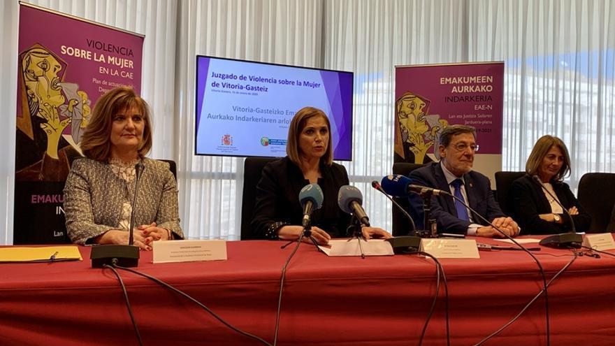 Acto de inauguración del nuevo juzgado de Vitoria especializado en violencia contra la mujer
