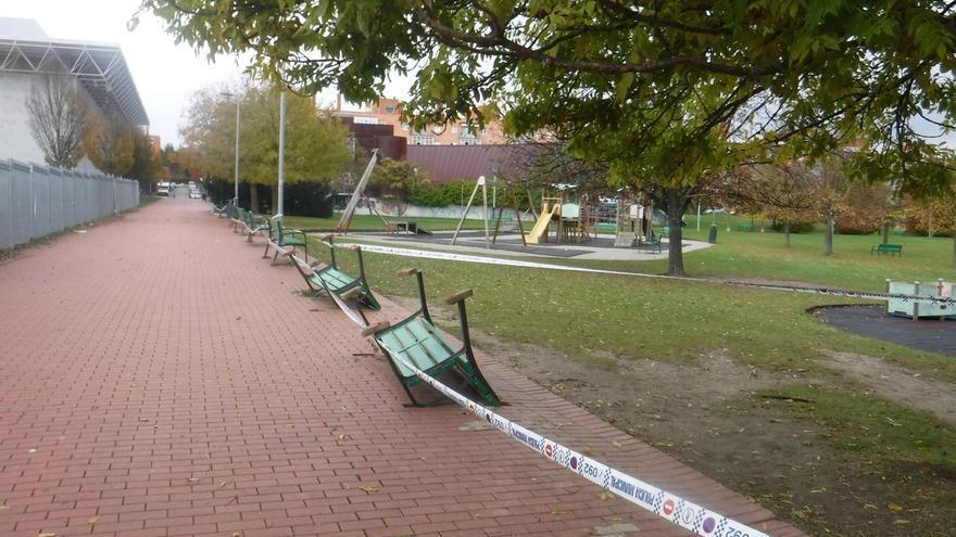 La Policía Municipal de Pamplona investiga varios actos vandálicos contra mobiliario urbano en Mendillorri