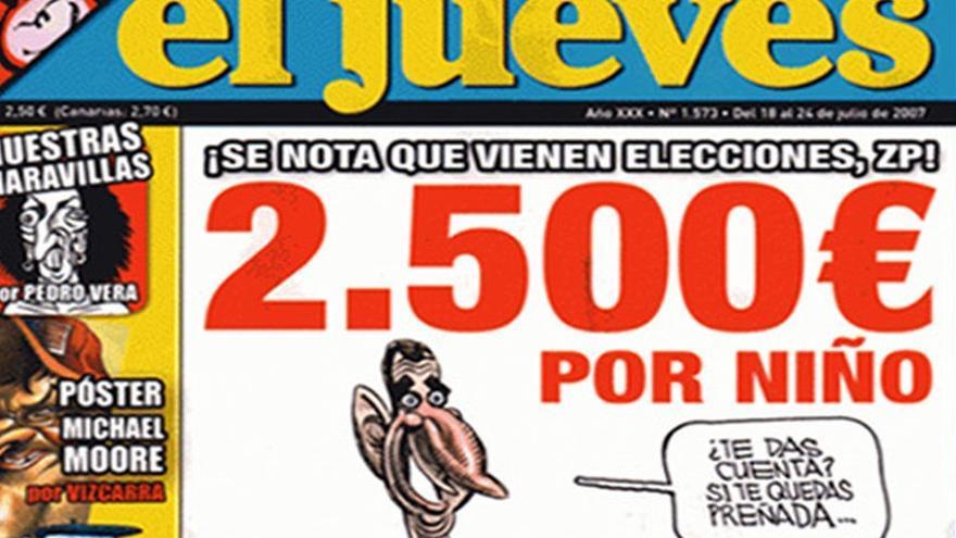 Portada de la revista El Jueves secuestrada