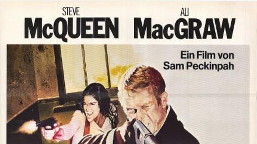 Cartel español de ''la huida'' adaptación de Sam Peckinpah.