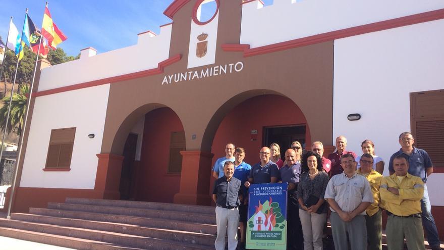 En la imagen, participantes en la mesa de trabajo celebrada en Fuencaliente.