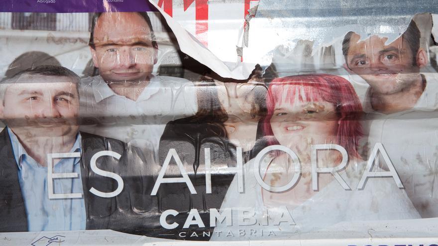 Imagen de un cartel electoral arrancado tomada por el fotógrafo Danstheman.
