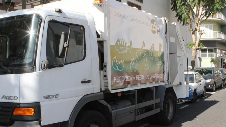 En la imagen, vehículo específico para la recogida de residuos orgánicos.