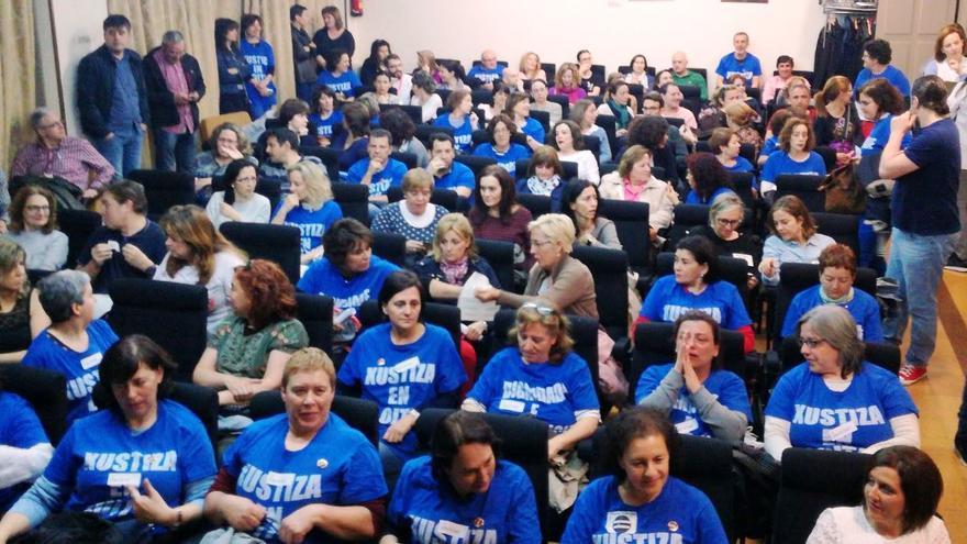 Trabajadores de Justicia en Galicia reunidos en asamblea