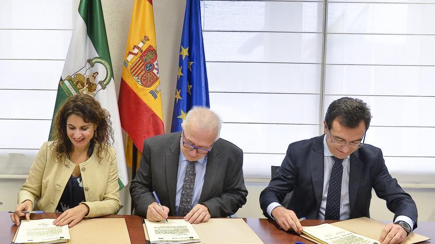 Firma del acuerdo  con el BBVA