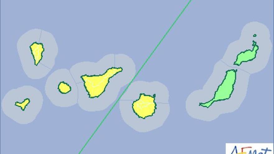 La Aemet activará este viernes el aviso amarillo por fuertes lluvias.