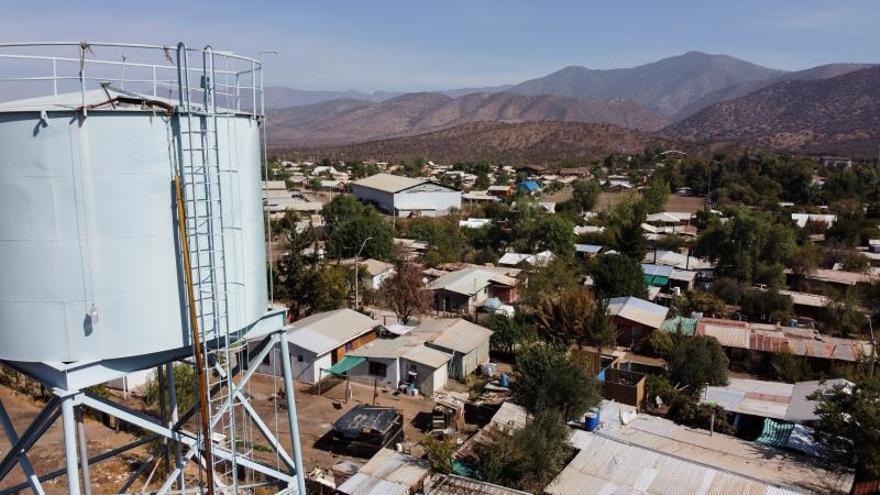Fotografía aérea el 14 de abril de 2020, en la localidad de Runge (Chile).