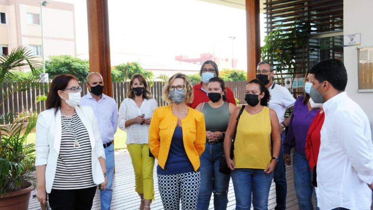 El grupo de gobierno del Ayuntamiento de San Bartolomé de Tirajana, en la reunión de este jueves