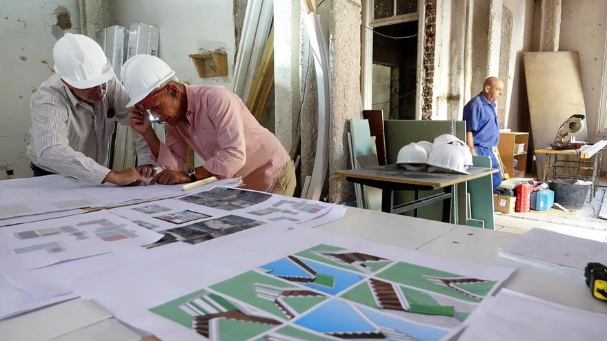 Interior del inmueble en fase de arreglo, en el histórico barrio de El Toscal