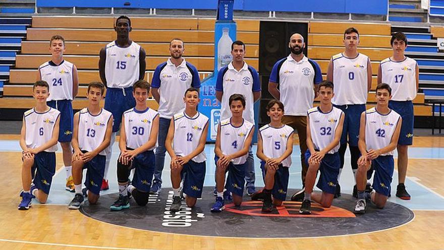 Formación del conjunto La Salle Laguna de baloncesto masculino Infantil