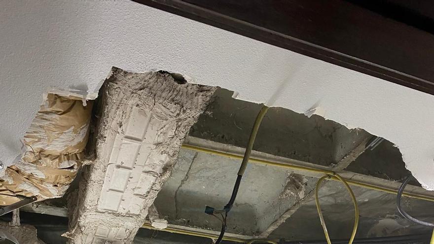 Se desprende sin causar heridos parte del techo de un laboratorio de Fundación de Investigación del Ramón y Cajal