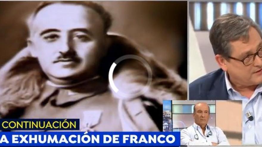 Francisco Marhuenda en una tertulia sobre Franco. Captura de pantalla