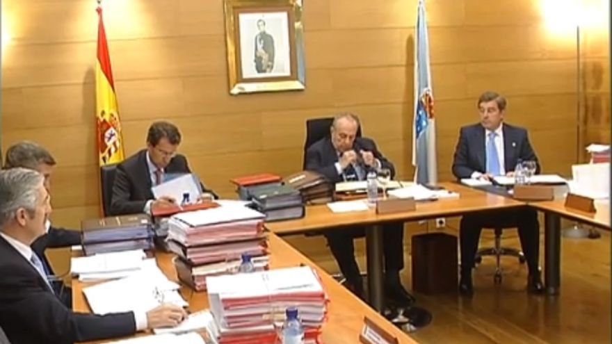 Reunión del Gobierno gallego presidido por Manuel Fraga