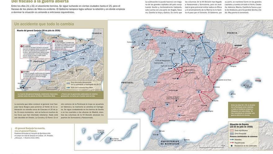 Mapa obtenido de 'La Sublevación', atlas de Víctor Hurtado
