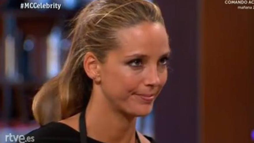 La modelo Estefanía Luyk, vista y no vista en 'Masterchef Celebrity'