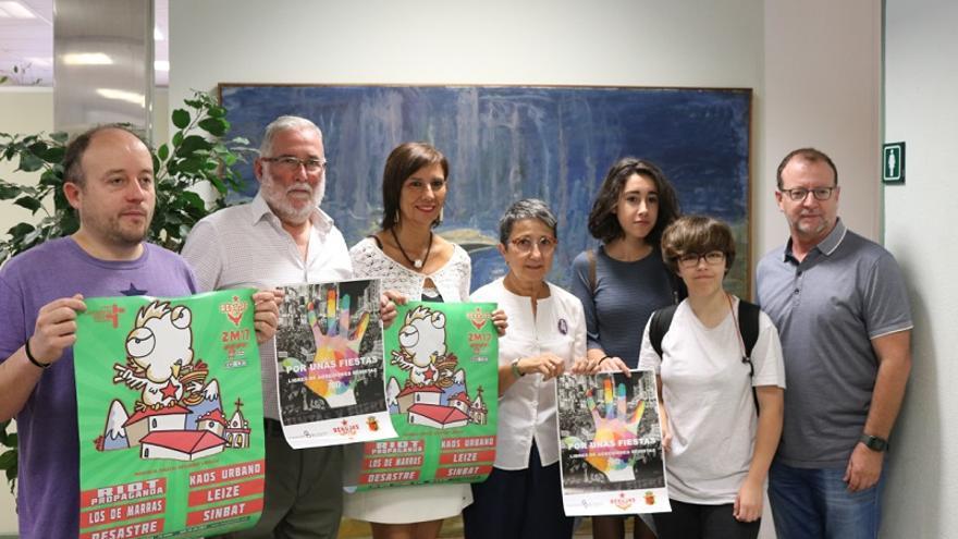 Rubén García, Ramón Ruiz, Josefina González y Ana Bolado, han presentado hoy el cartel de la XXI edición del Rebujas Rock