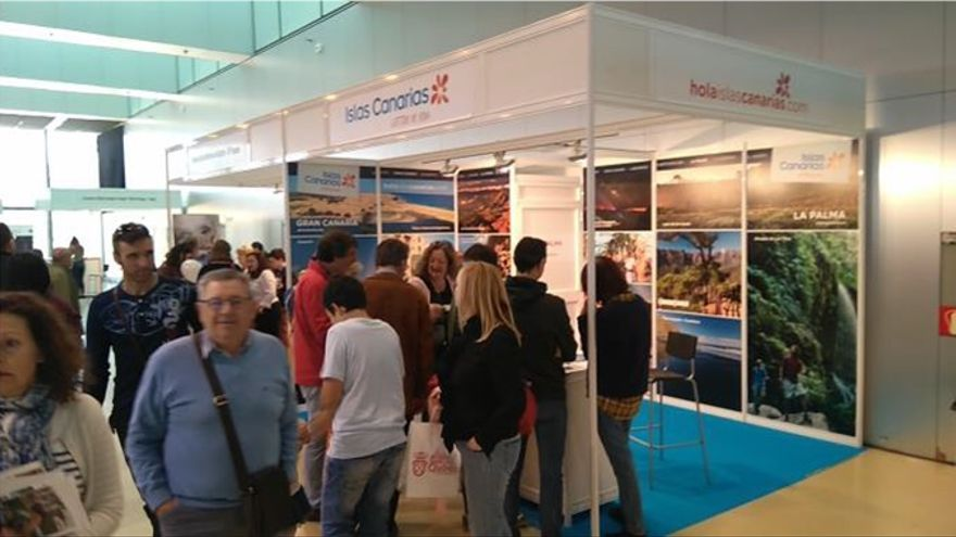 Estand de La Palma  en el Salón Aragonés del Turismo.