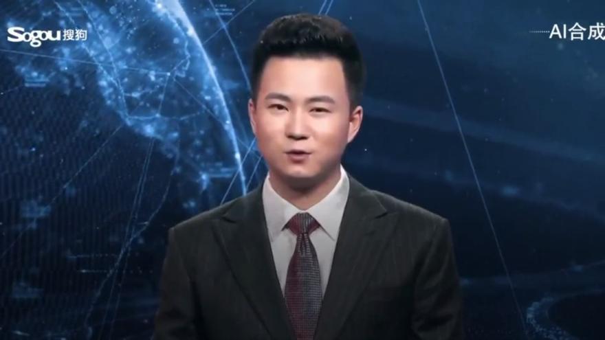 El presentador virtual de noticias en chino de Xinhua