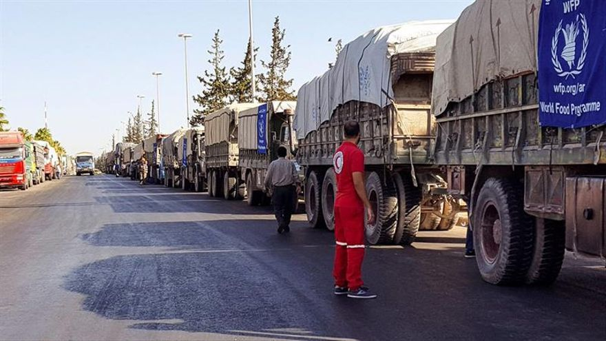 La Cruz Roja confirma la muerte de 20 civiles en el ataque al convoy