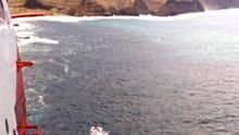 Búsqueda del pescador caído al mar en Faneroque, Gran Canaria
