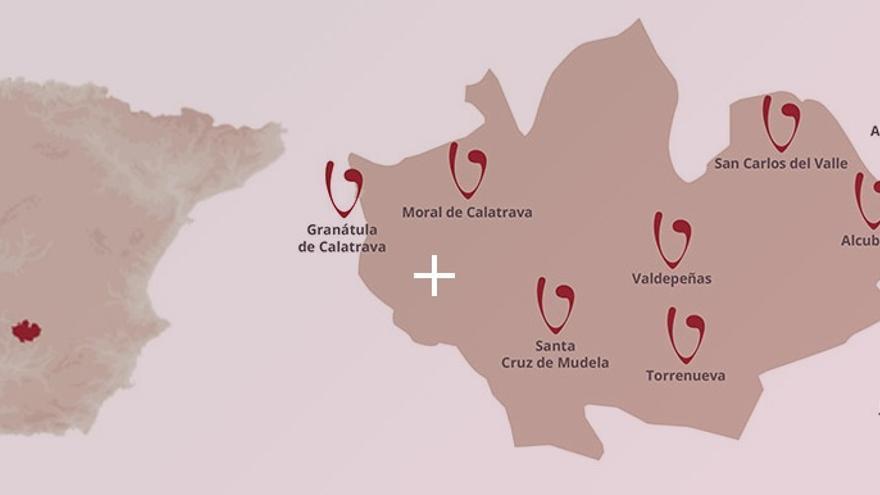 Mapa de la DO Valdepeñas