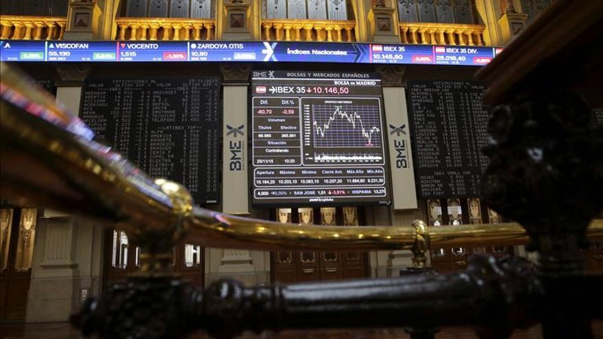 El IBEX 35 cae el 0,49 % tras la apertura y arriesga los 10.000 puntos