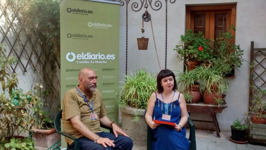 Pablo Häsler en el set de eldiarioclm.es en el Festival Voix Vives