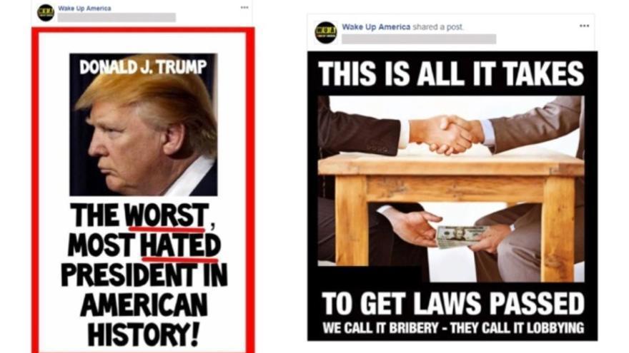Publicaciones críticas con Donald Trump y el sistema democrático de EEUU impulsadas por cuentas falsas relacionas con el Gobierno iraní.