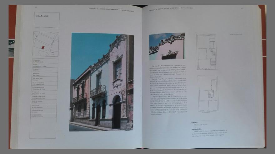 Páginas del libro publicado por el Ayuntamiento de Santa Cruz de Tenerife sobre la casa Clavijo