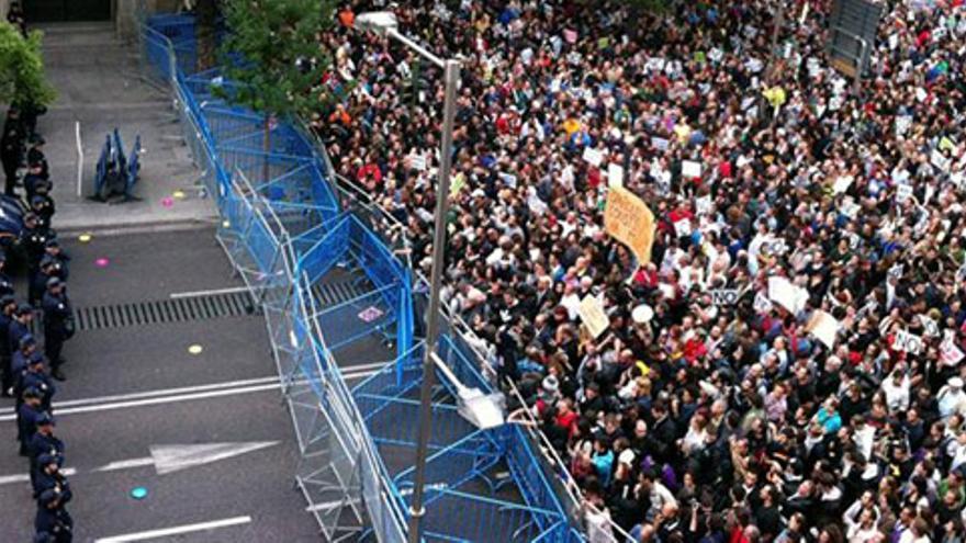 Madrid, frente al Congreso, 25 de septiembre 2012. EFE