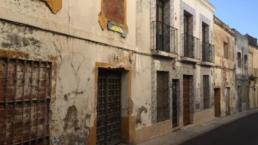 Casas en ruinas casco histórico de Badajoz
