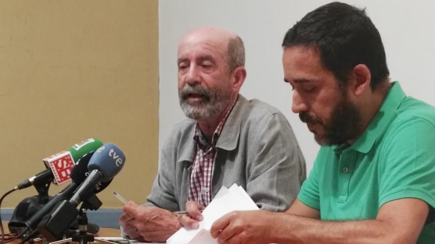 Santiago Pérez y Rubens Ascanio, en la rueda de prensa de este jueves en La Laguna