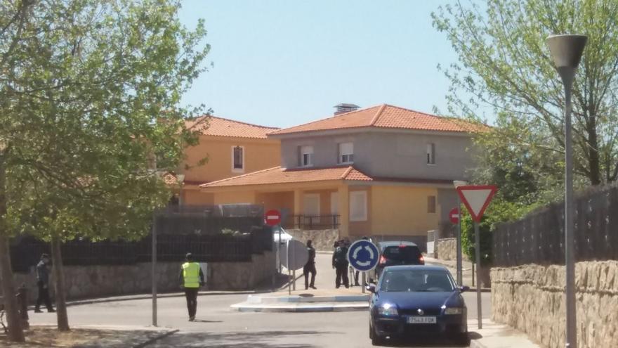 Lugar del tiroteo en Las Ventas de Retamosa (Toledo)