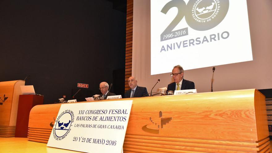 La inauguración del congreso nacional que el Banco de Alimentos celebra los días 20 y 21 de mayo en Las Palmas de Gran Canaria.