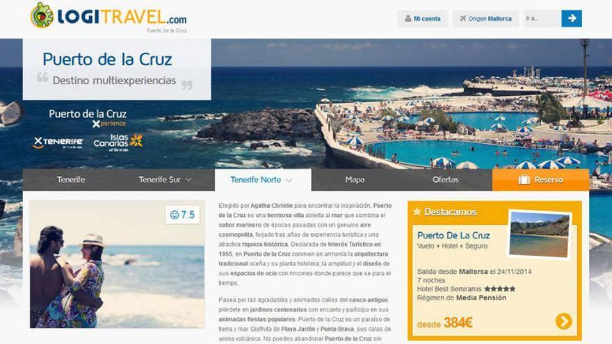 La conocida agencia de viajes on line Logitravel.