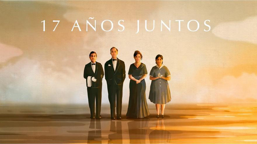 Cartel del cortometraje '17 años juntos', de Javier Fesser