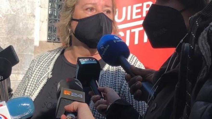 La candidata de Izquierda en Positivo al Parlament, Celia Cánovas