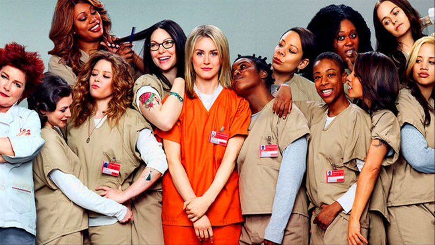 Imagen promocional de 'Orange is the new black', serie emitida en Netflix
