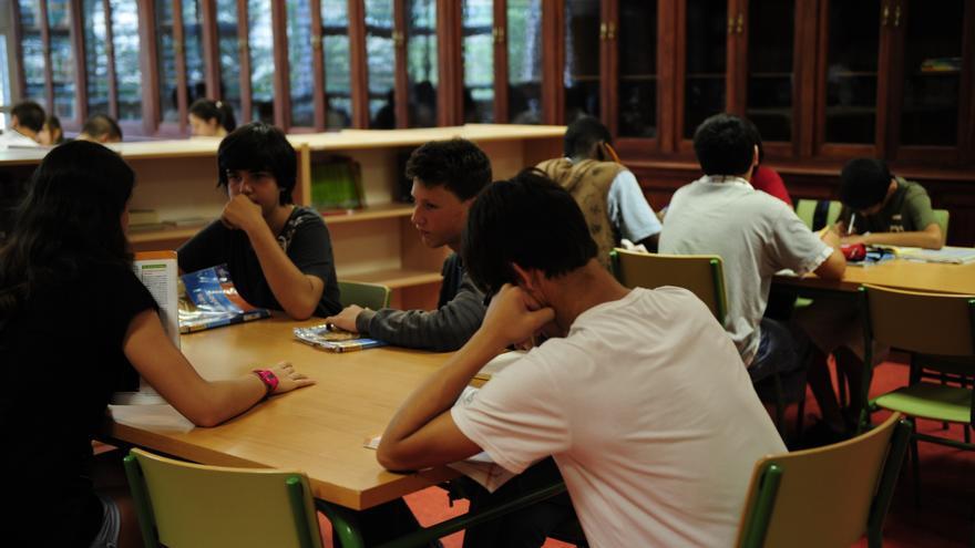 Alumnos y alumnas del IES Parque Goya de Zaragoza