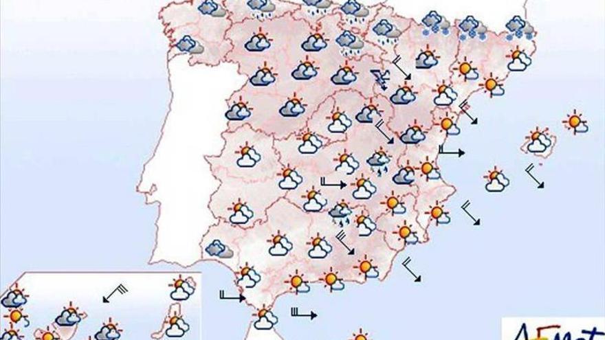 Mañana vientos fuertes en el Cantábrico y el sudeste peninsular