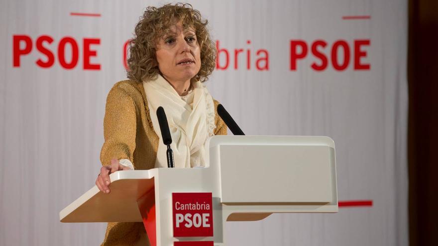 Eva Díaz Tezanos, secretaria general del PSOE de Cantabria. | ROBERTO RUIZ