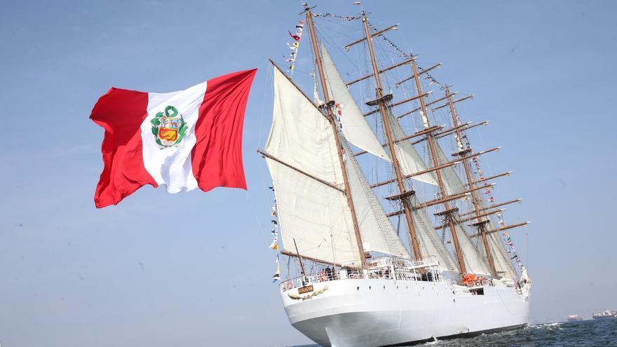 El velero 'BAP Unión', buque escuela de Perú