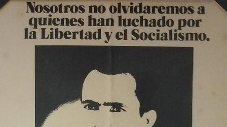 Cartel del 2º Aniversario del asesinato de Antonio González Ramos.