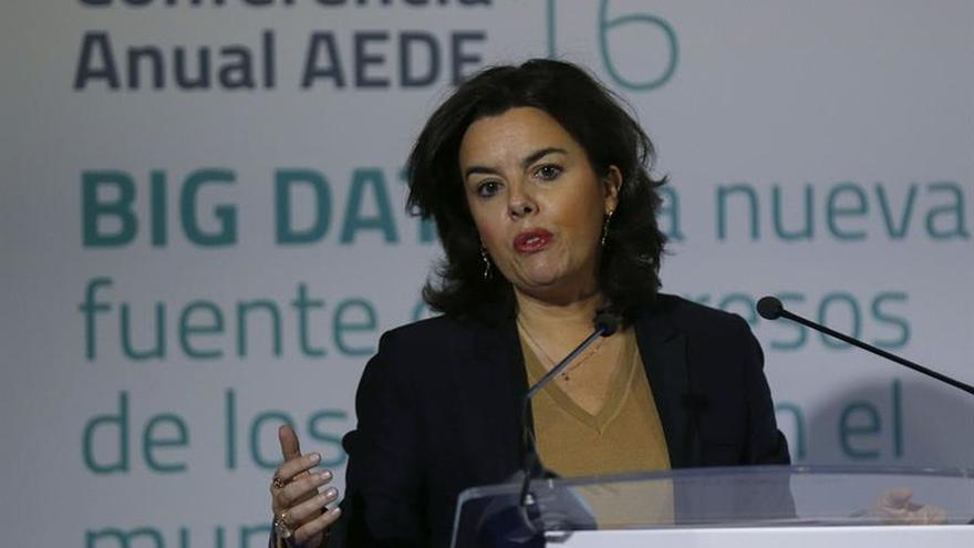 Vicepresidenta pide al PSOE una reflexión para que no se derogue reforma TC
