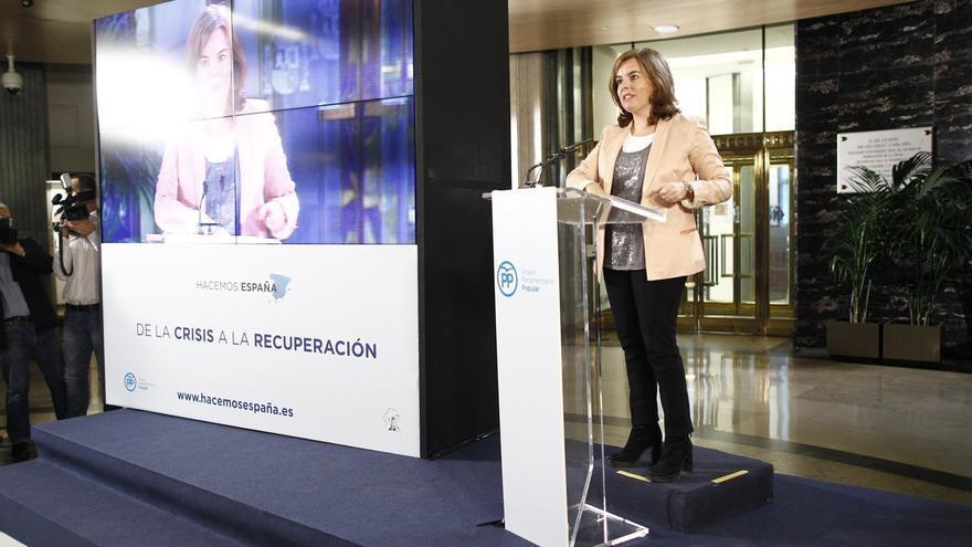 """Santamaría pide """"rigor"""" al PSOE porque Bruselas no pide que España revise los Presupuestos sino que los cumpla"""