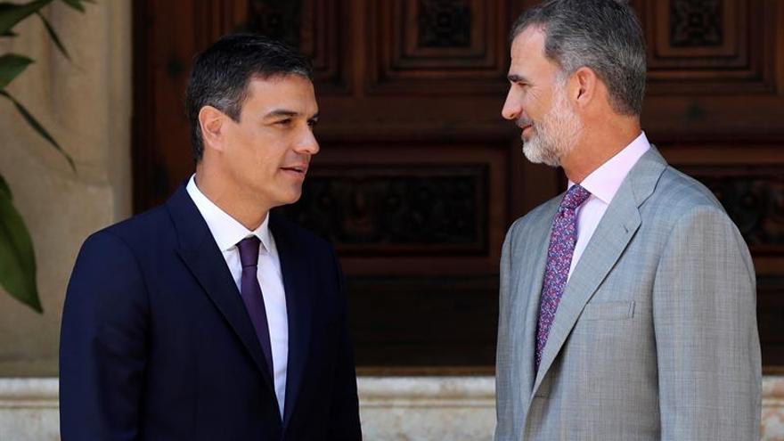 El rey y Sánchez se reúnen hoy en el Palacio de Marivent