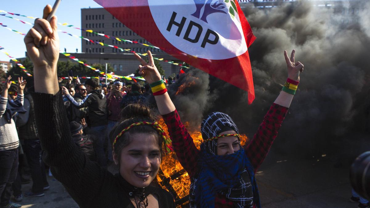 Imagen de archivo de una concentración de seguidores del HDP en Turquía