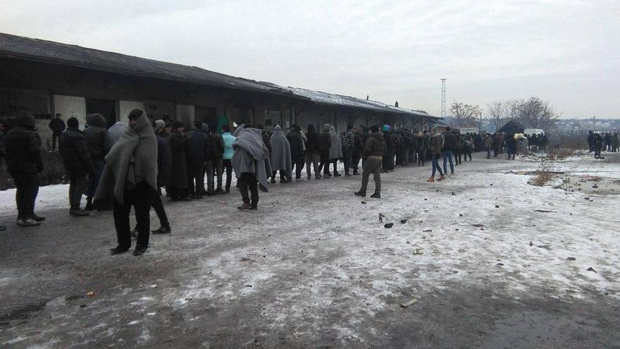 Refugiados en Belgrado