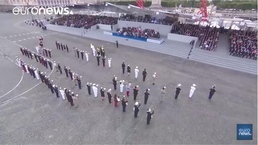 VÍDEO | Desfile militar al ritmo de Daft Punk en los Campos Elíseos ante Macron y Trump